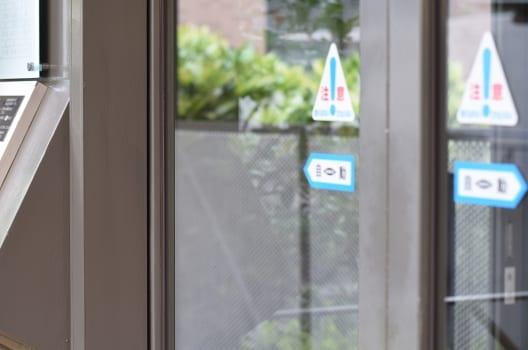自動扉のセンサーが取り付けできる場所
